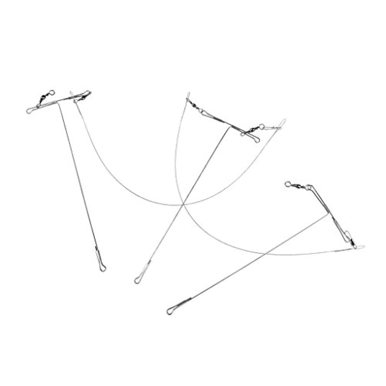 合理的征服拒絶するFenteer トレースワイヤー ワイヤーリーダー 釣りライン フック 旋回 15cm