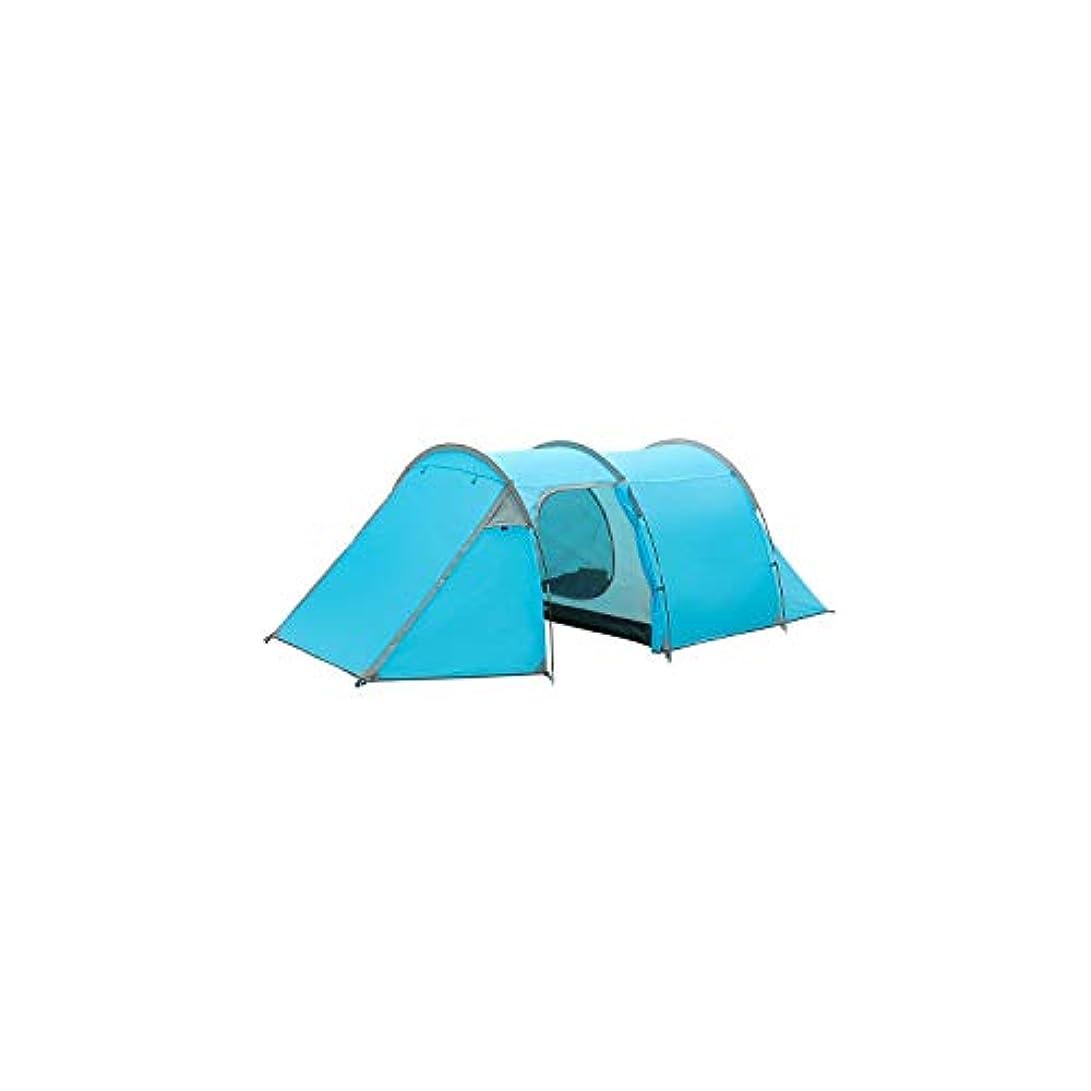 凍ったディンカルビルボード超軽量 キャンプ用テント 防水 3-4人用 2層 トンネルテント アウトドア ハイキング 登山 大容量 ビーチテント