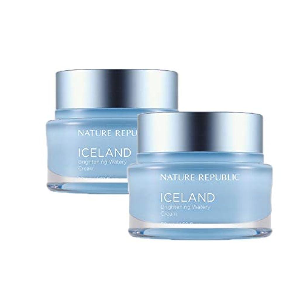 入浴アクチュエータ交換可能ネイチャーリパブリックアイスランドブライトニング水分クリーム50mlx2本セット韓国コスメ、Nature Republic Iceland Brightening Watery Cream 50ml x 2ea Set Korean Cosmetics [並行輸入品]
