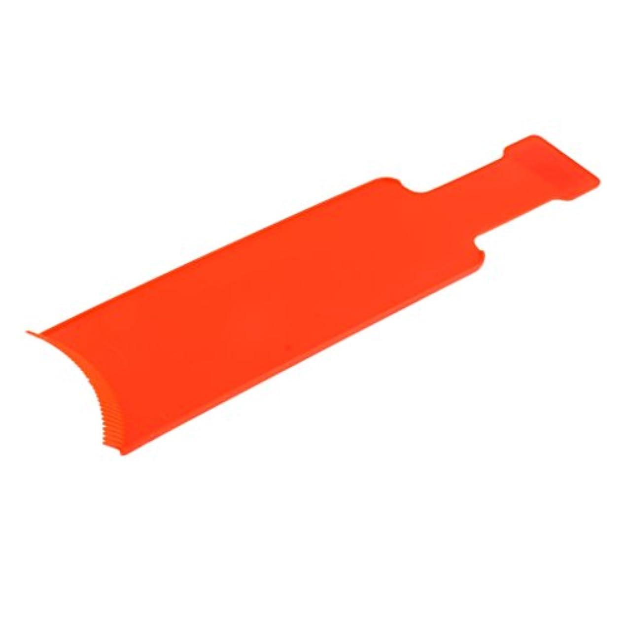 Perfk 染色櫛プレート 染めボード ヘアカラー 櫛 着色ボード ヘアブラシ セルフヘルプ プロ 家庭用 2サイズ2色選べる - L, オレンジ