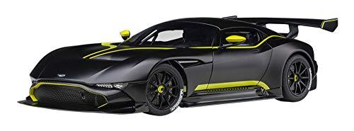 AUTOart 1/18 アストンマーチン ヴァルカン マット・ブラック/ライムグリーン・ストライプ 完成品