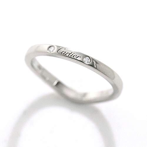 カルティエ Cartier バレリーナ カーブ ダイヤ 3P #48 リング Pt950 プラチナ 指輪 【証明書付き】 【中古】 90055797