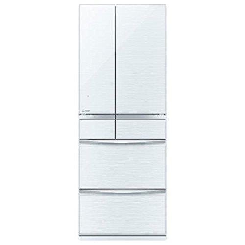 三菱 572L 6ドア冷蔵庫(クリスタルホワイト)MITSUBISHI 置けるスマート大容量 MXシリーズ MR-MX57D-W