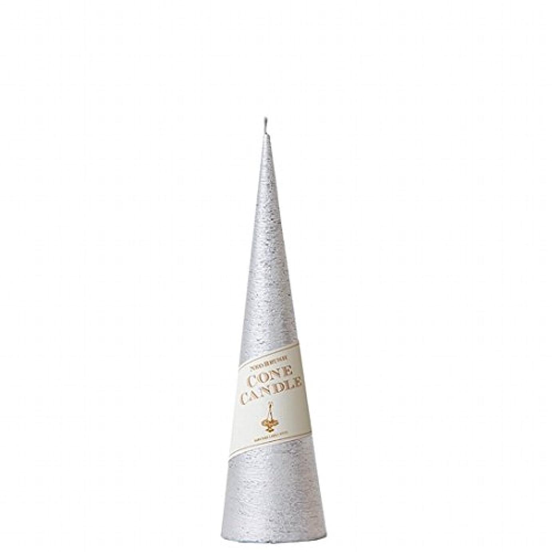 インカ帝国令状適用済みカメヤマキャンドル( kameyama candle ) ネオブラッシュコーン 230 キャンドル 「 シルバー 」