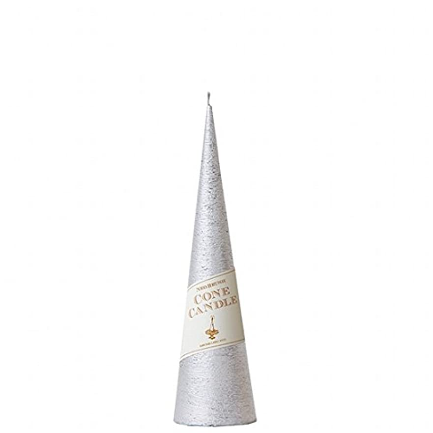 保安ラケットブロックするカメヤマキャンドル( kameyama candle ) ネオブラッシュコーン 230 キャンドル 「 シルバー 」