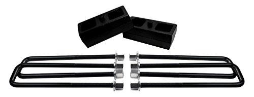 American自動車ubrb10–490、リアサスペンションリフトSolid Cast IronブロックPlus Extra Long、正方形リーフスプリングAxle Uボルト