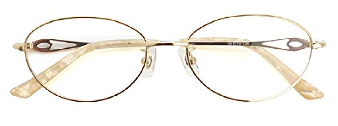 SHOWA (RSN) シェルカラー 遠近両用 メガネ (ゴールド) (レディース セット) 全額返金保証 老眼鏡 リーディンググラス 眼鏡 (瞳孔距離:57mm~59mm, 近くを見る度数:+1.5)