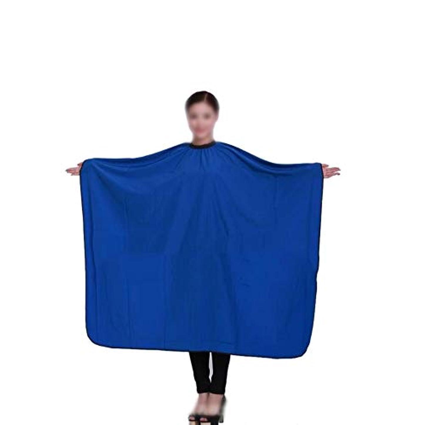 印刷するどっちマオリヘアカットサロンエプロンヘアカット防水布ブルースタイリングケープサロンガウンクロス ヘアケア