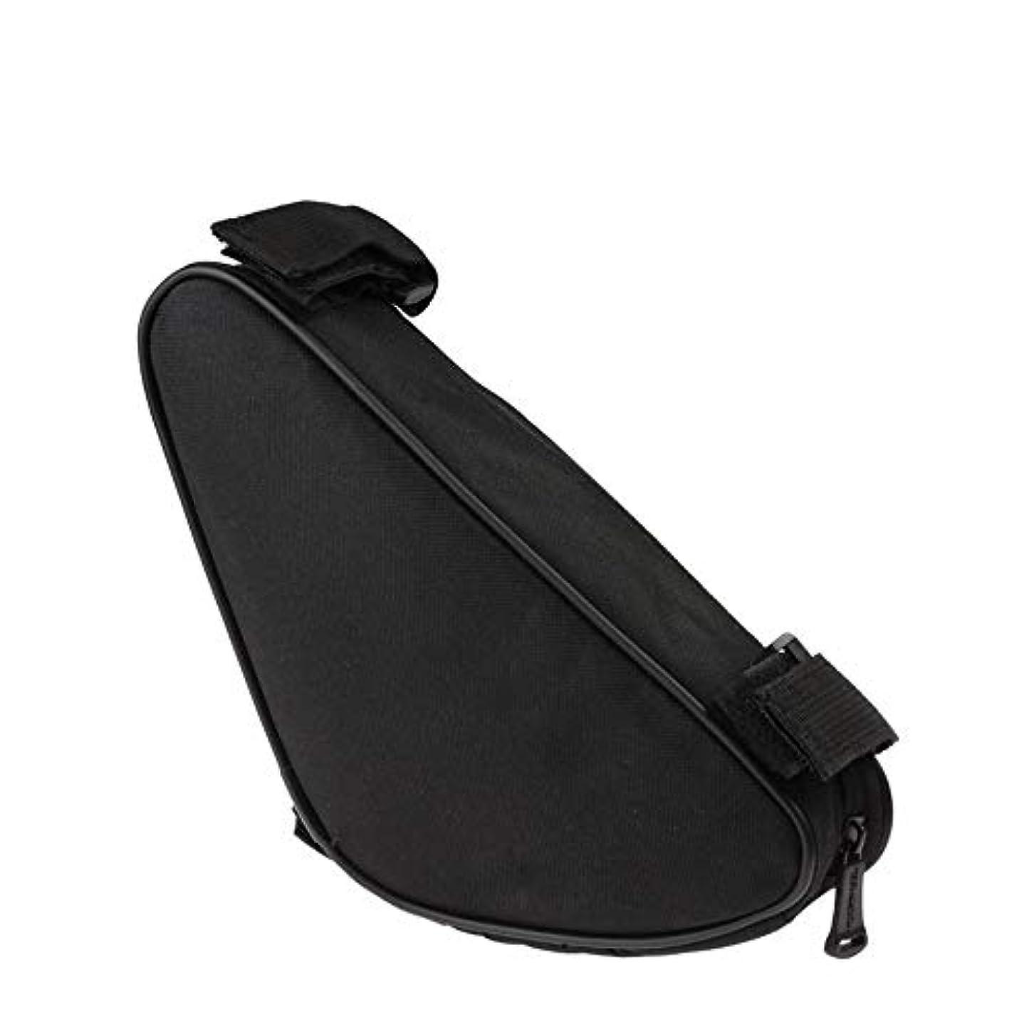 腫瘍のヒープ長くするサイクリングフレームバッグ 屋外MTBのロードバイクのための座席上の管のパックの防水バイクのパニエ袋の下の自転車の袋 電話収納バッグ (Color : Black, Size : 35.5*4.5*14cm)