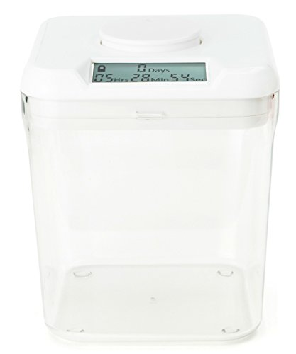 Kitchen Safe: Time Locking Container (White Lid + Clear Base) - 14cm inside height