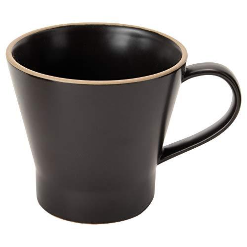TAMAKI マグカップ エッジライン ブラック 直径10×奥行13.5×高さ9cm 350ml 電子レンジ・食洗機対応 T-788363