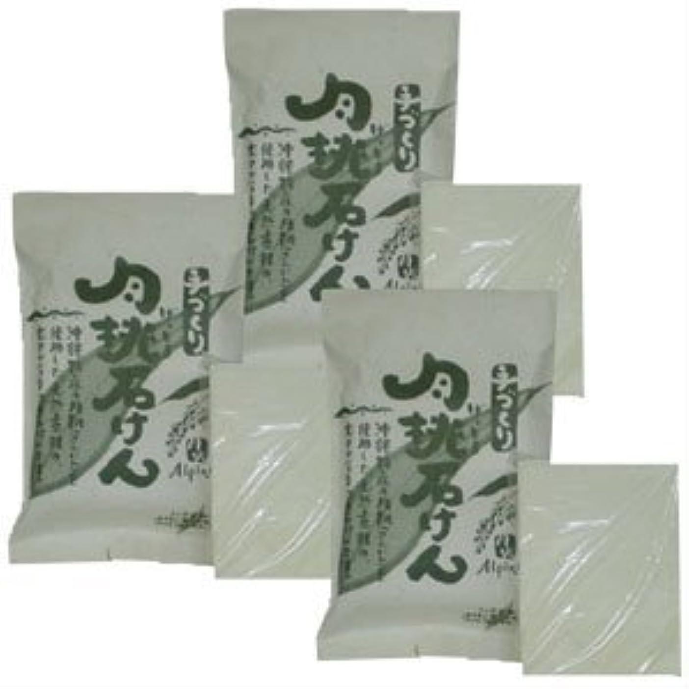 沖縄県産 月桃石けん/台所用石鹸(100g×3個)