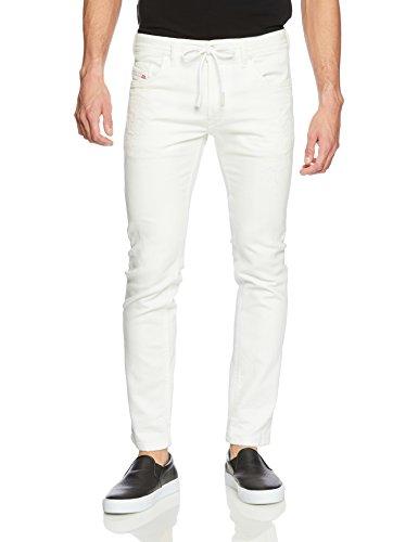 (ディーゼル) DIESEL メンズ ジョグジーンズ THOMMER CB-NE Sweat jeans 00S8MK0689 X 32inch (L) ホワイト 100