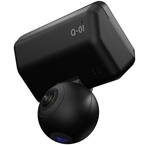 ユピテル 全方位ドライブレコーダー Q-01dP  前後上下左右 360度+360度(720度)記録 GPS 衝撃センサー 3年保証 200万画素 電源直結モデル 【Amazon.co.jp 限定】