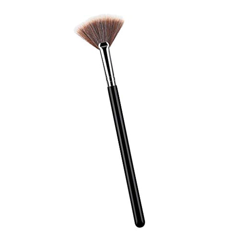 一見器官噴出するPerfeclan 化粧ブラシ 携帯 輪郭ブラシ 化粧筆 メイクアップブラシ 扇形ブラシ メイクブラシ