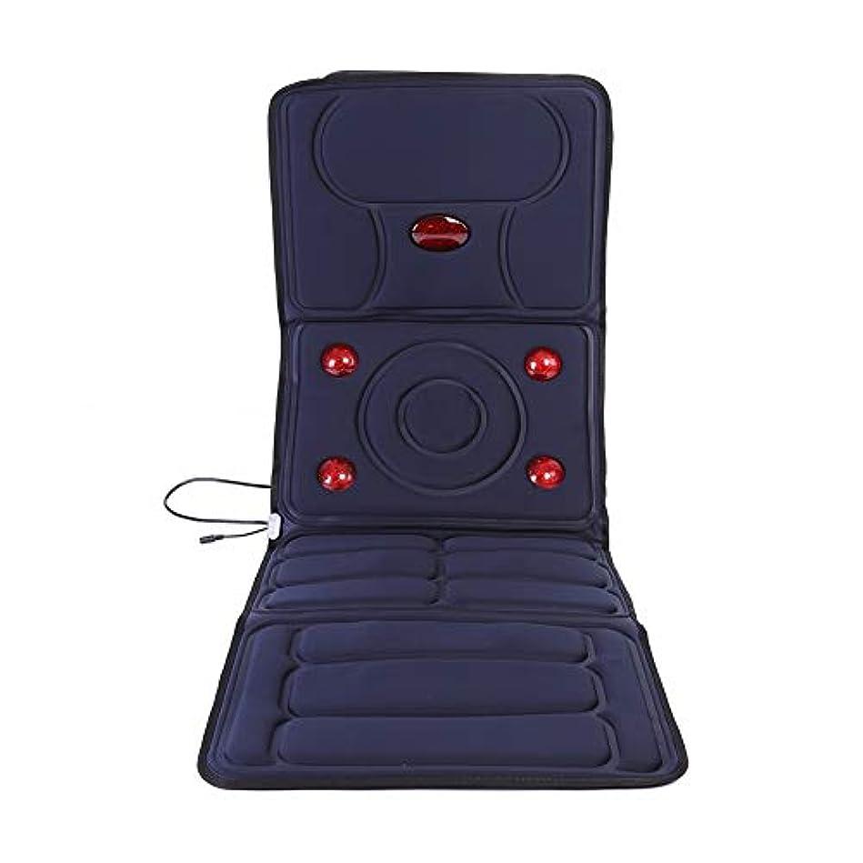 冒険家脚本家杭マッサージマットレス、マッサージ機、バイブレーションマッサージマット、マッサージクッション、首、肩、腰、太もも、全身マッサージ、折り畳みが可能、電動マッサージ器
