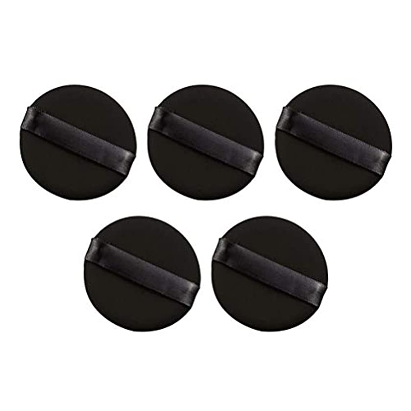 覚醒転倒思い出Frcolor パウダーパフ エアクッション 化粧ツール ラテックスではない 弾力性 化粧品 旅行用 5個セット(ブラック)