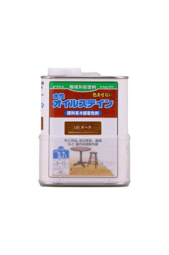 和信ペイント 水性オイルステイン 木目鮮明・微臭・安全 オーク 0.7L
