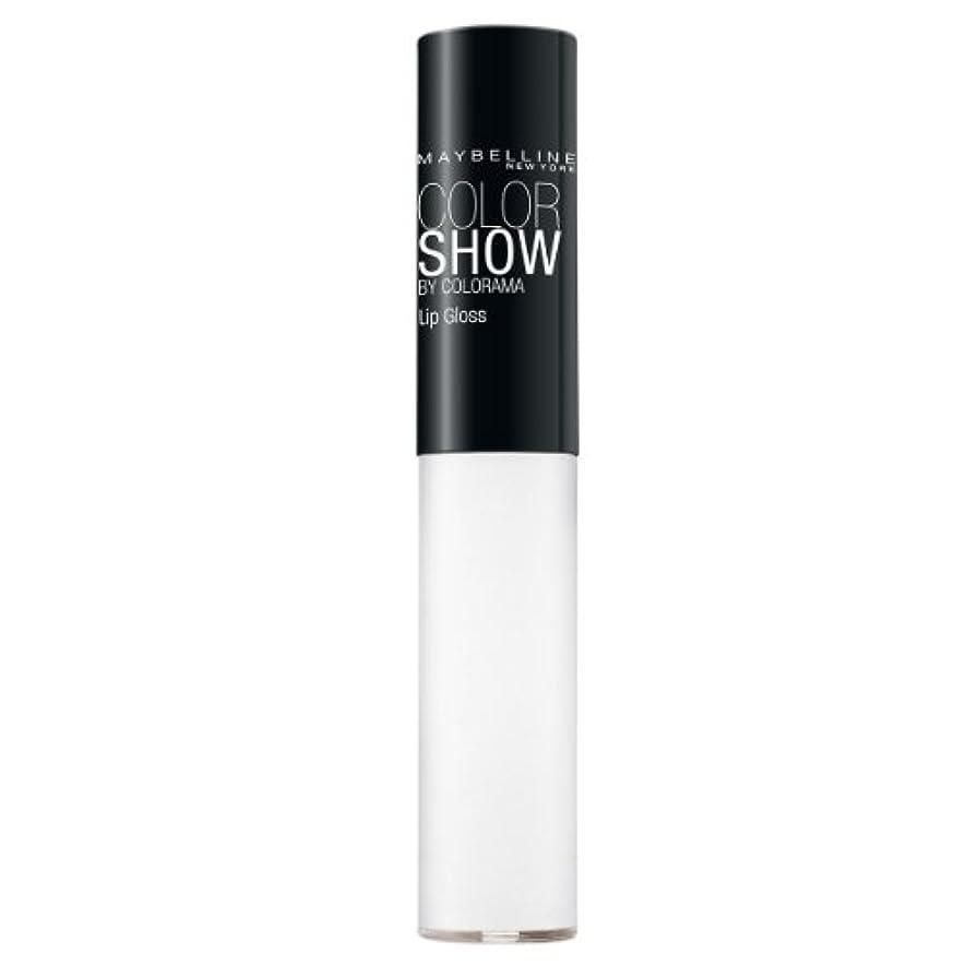 活気づけるデモンストレーションレッドデートMaybelline New York Color Show Lipgloss, 150 Crystal Clear, 1er Pack (1 x 5 ml)