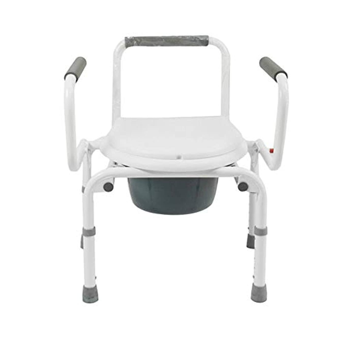 耐えられないブラウザ重なる便器椅子折りたたみバケットモバイルトイレスツール上下調節アームレストホーム用ポータブルトイレシート