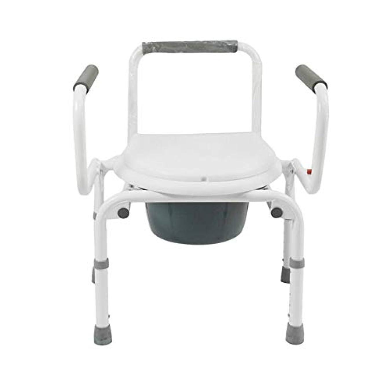 ケニア豊富本物の便器椅子折りたたみバケットモバイルトイレスツール上下調節アームレストホーム用ポータブルトイレシート