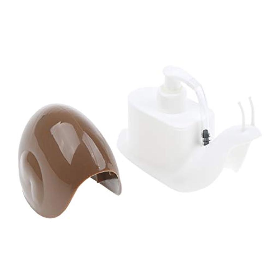 楕円形酔っ払い航海のperfk ハンドソープボトル 石鹸箱ハンド 容器 詰替 ハンドソープ 全3選択 - コーヒー