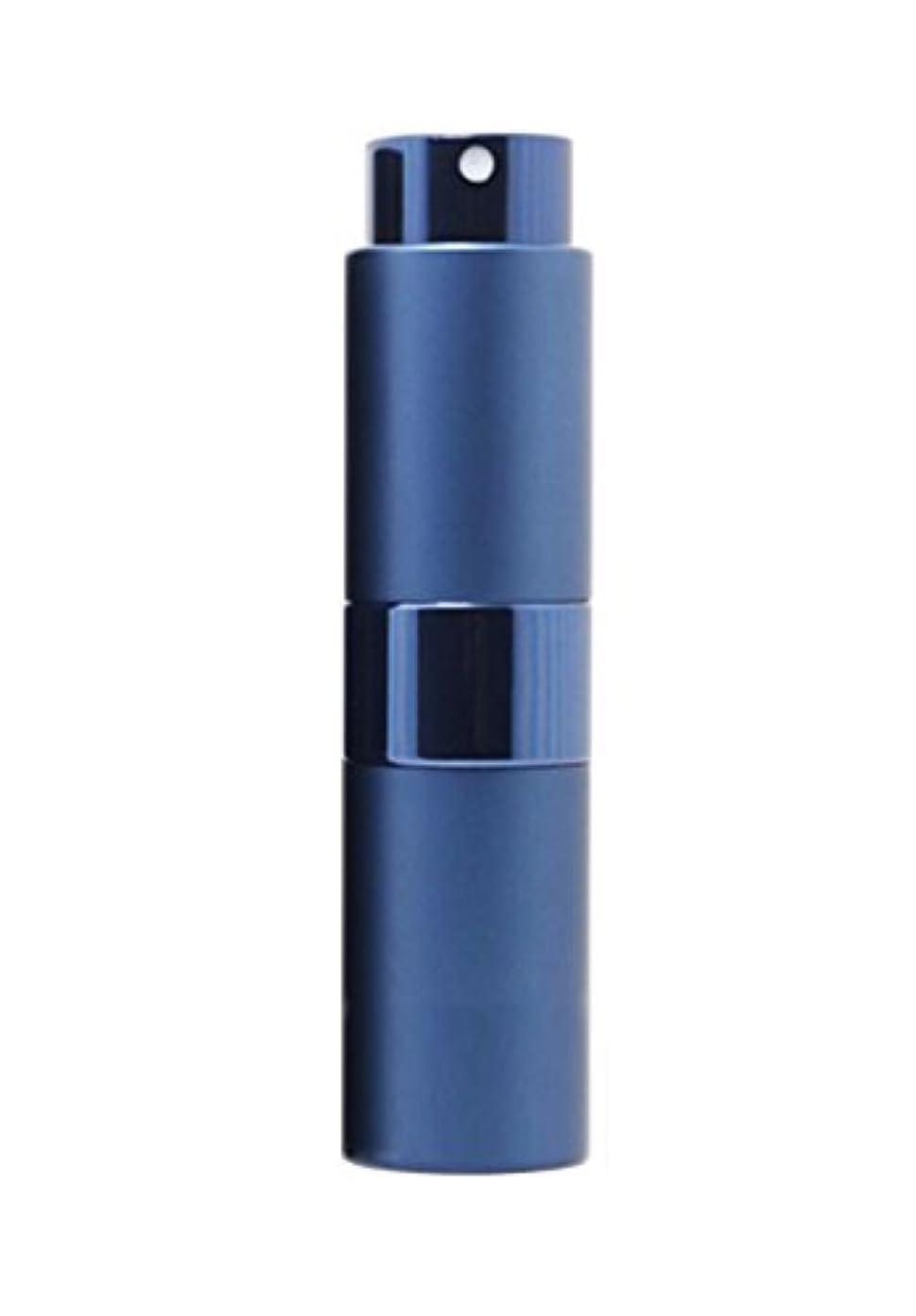 キュービック湿原支配するNYSh 香水 アトマイザー プッシュ式 スプレー 詰め替え 携帯 身だしなみ メンズ 15ml (ブルー)