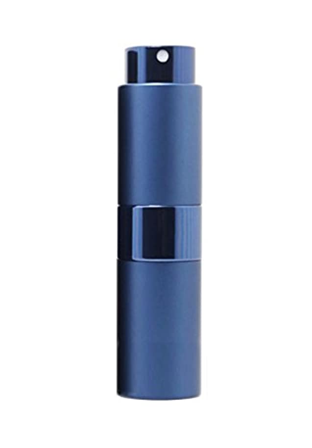 トランクライブラリ促す夜NYSh 香水 アトマイザー プッシュ式 スプレー 詰め替え 携帯 身だしなみ メンズ 15ml (ブルー)