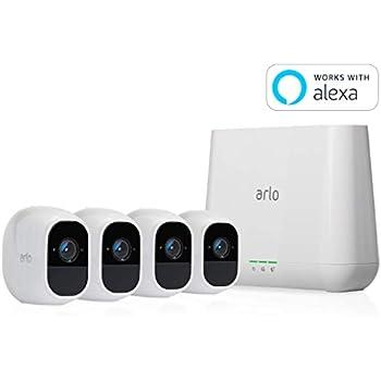【Works with Alexa認定製品】Arlo Pro 2 ネットワークカメラ ワイヤレス スマホ 防犯 屋外 防水 動体検知 カメラ4台セット VMS4430P-100JPS