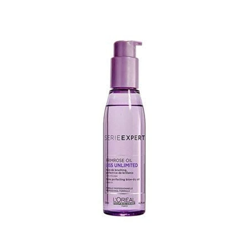 ぴったり事前に解釈的L'Oreal Professionnel Serie Expert Liss Unlimited Evening Primrose Oil - 125 ML X2 (Pack Of 2)