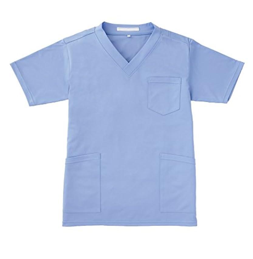動かすコイル消防士(ララスキル)LALA SKILL 医療 白衣 ニットスクラブ 男女兼用 [制菌 消臭 防汚] F-9500