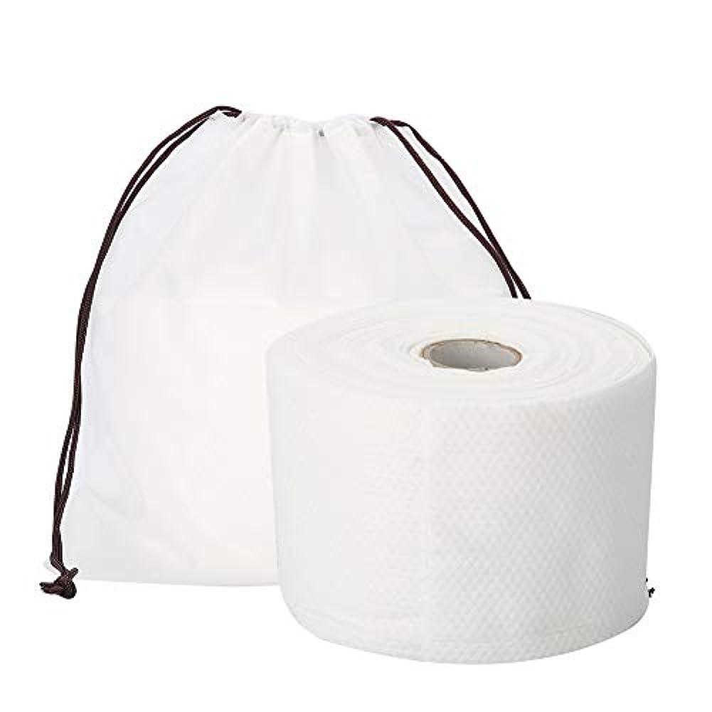 普通のファブリック事業Semmeの使い捨て可能なクリーニングのフェイスタオル、毛羽立ちのない綿パッドの構造使い捨て可能なフェイスタオルの柔らかいNonwovenのクリーニングの化粧品の綿パッド25m