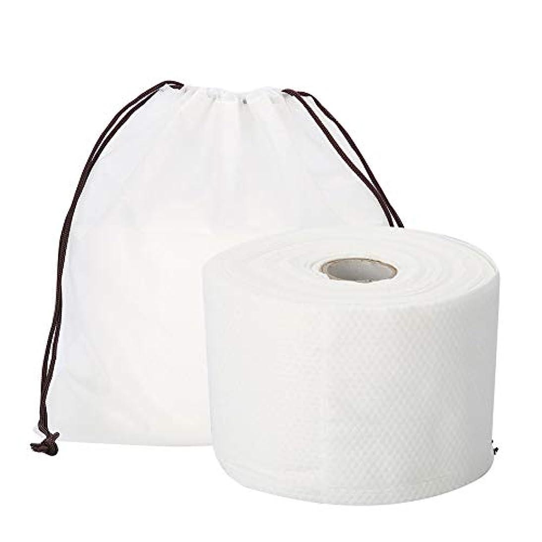 サービス安定しました再開Semmeの使い捨て可能なクリーニングのフェイスタオル、毛羽立ちのない綿パッドの構造使い捨て可能なフェイスタオルの柔らかいNonwovenのクリーニングの化粧品の綿パッド25m