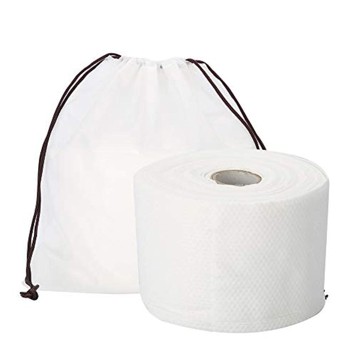 遡る糸ねじれSemmeの使い捨て可能なクリーニングのフェイスタオル、毛羽立ちのない綿パッドの構造使い捨て可能なフェイスタオルの柔らかいNonwovenのクリーニングの化粧品の綿パッド25m