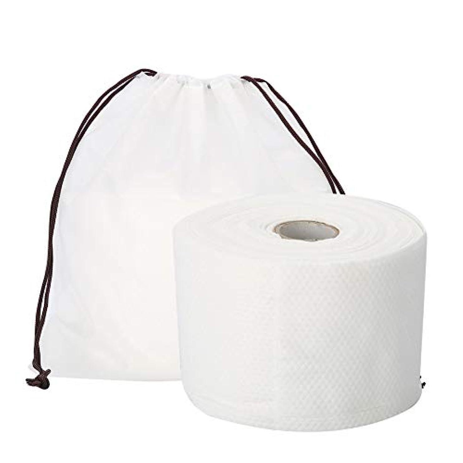 有名なロビー対応Semmeの使い捨て可能なクリーニングのフェイスタオル、毛羽立ちのない綿パッドの構造使い捨て可能なフェイスタオルの柔らかいNonwovenのクリーニングの化粧品の綿パッド25m