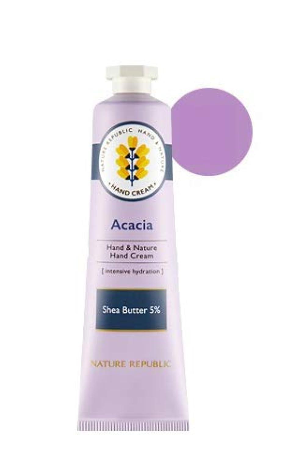 接続詞どこ[1+1]ネイチャーリパブリック NATURE REPUBLIC ハンドアンドネイチャーハンドクリーム Hand & Nature Hand Cream (# ACACIA) [並行輸入品]