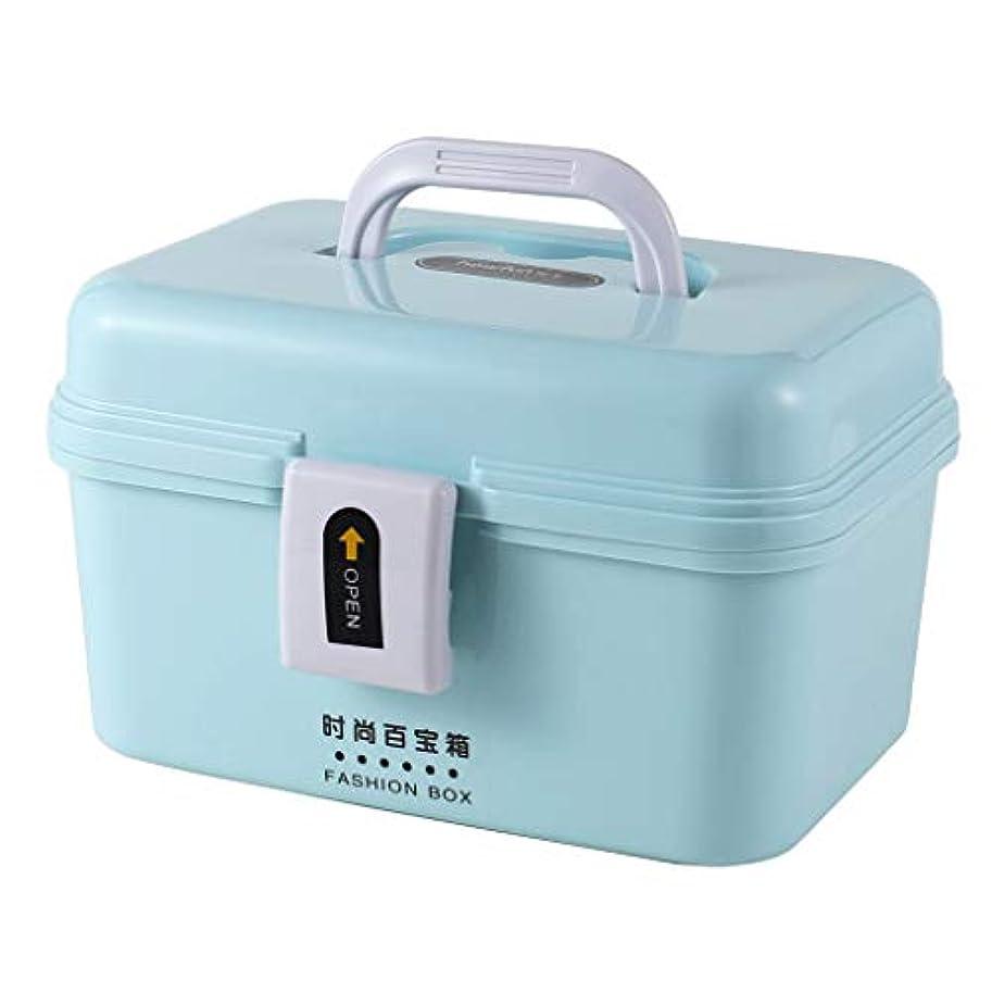 表面敷居テレマコスピルボックスPP 21 * 13.5 * 14 cm家庭用薬ボックス薬収納ボックス (色 : 青)