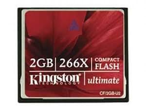 Kingston 2GB Compact Flash Ultimate 266倍速 CFカード CF/2GB-U2
