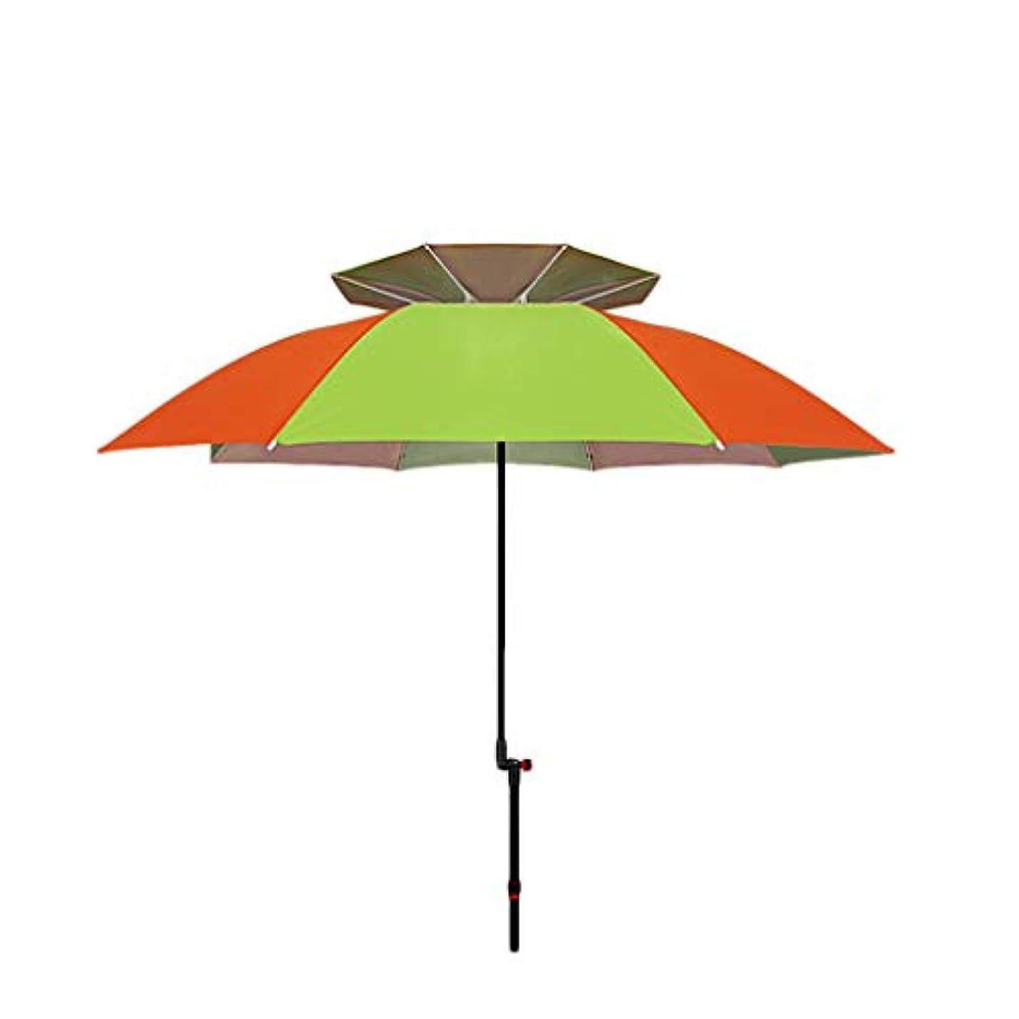 パラダイスアッティカス幸運な日傘アルミ合金シルバーガム布日焼け止め雨折りたたみ傘屋外サンシェード傘 (Size : H2.1m)