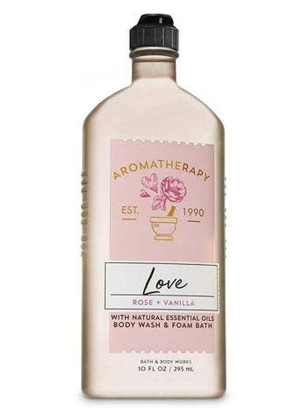 二層合理的光の【Bath&Body Works/バス&ボディワークス】 ボディウォッシュ&フォームバス アロマセラピー ラブ ローズ&バニラ Body Wash & Foam Bath Aromatherapy Love Rose &...