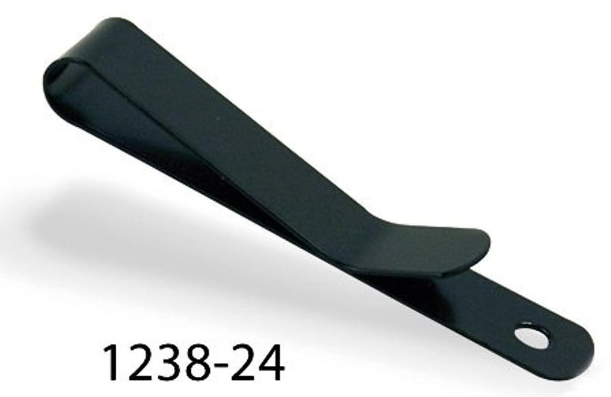 コンソール急行するメッシュtandy LEATHER製 レザークラフト材料 革 道具 金具 スモールベルトクリップ(1.1cm×7cm)1個入 カラー2種類 Small Belt/Holster Clip 1238-24) ブラック
