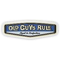 アメリカ ステッカー■OLD GUYS RULE■ オールドガイズルール CARエンブレムステッカー 103x45