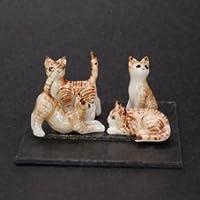 AN 陶器製 CAT4匹セット 064
