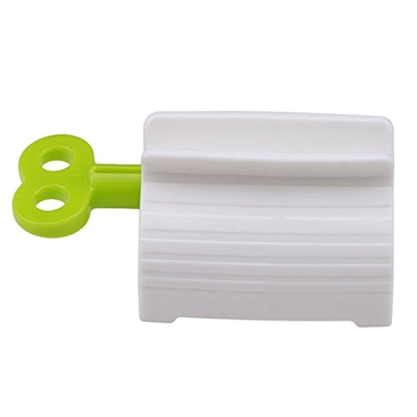 Edtoy 1pcsクリエイティブ手動ローリング歯磨き粉ディスペンサーチューブレモン絞り器歯磨き粉クリップホルダー グリーン