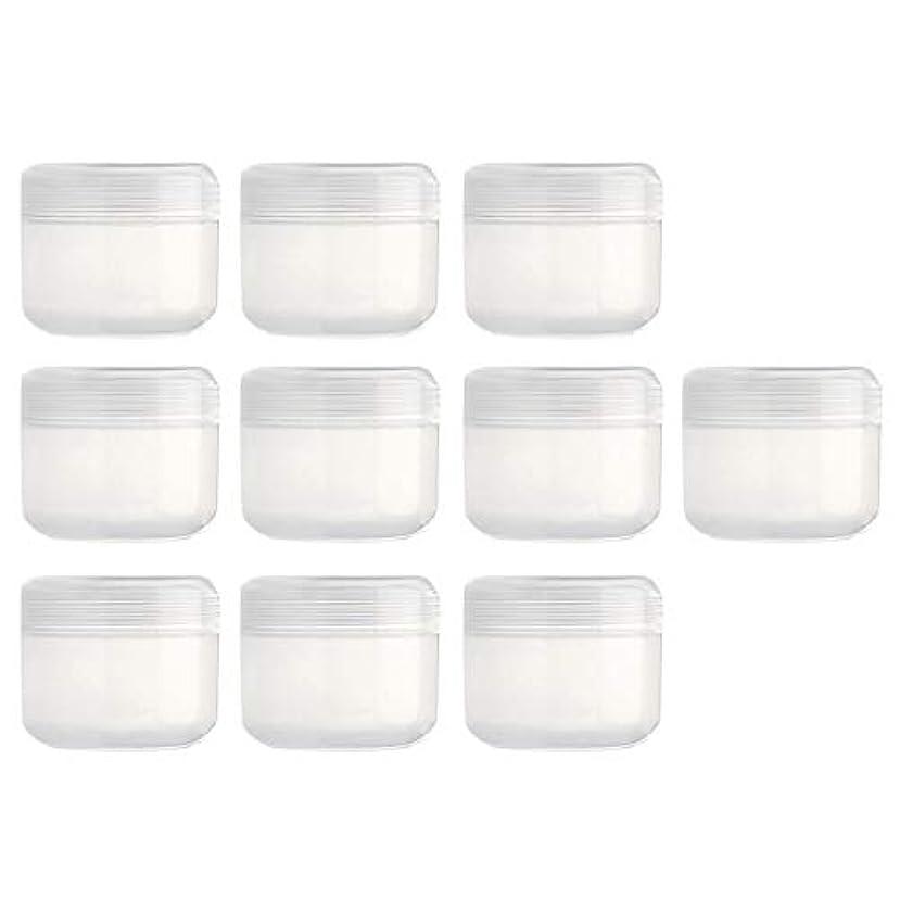 改修する入手します受け皿ふたの帽子が付いている10部分の詰め替え式のプラスチック空の表面クリームの化粧品の容器 - クリア20g