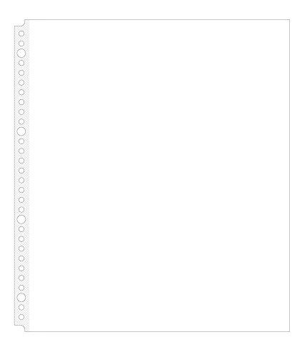 【グリーンウィーク】 雑誌切り抜き マガジン クリア ファイル A4変形ワイド 30穴 ポケットリフィル 50枚入