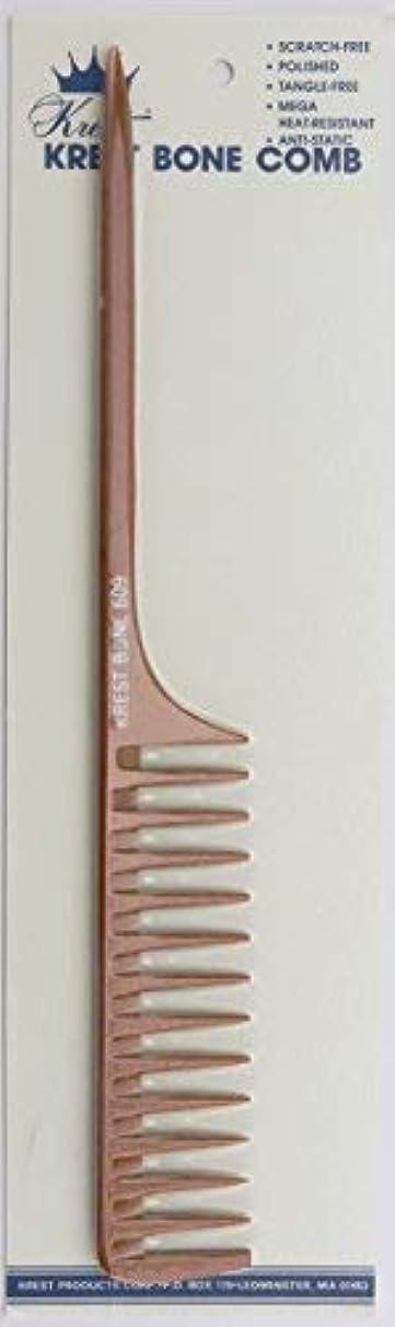 大学生かける建設Krest Bone 10 Inch Space Teeth Rattail Comb. Professional comb. Heat Resistant Comb. Styling Combs. Detangle,...