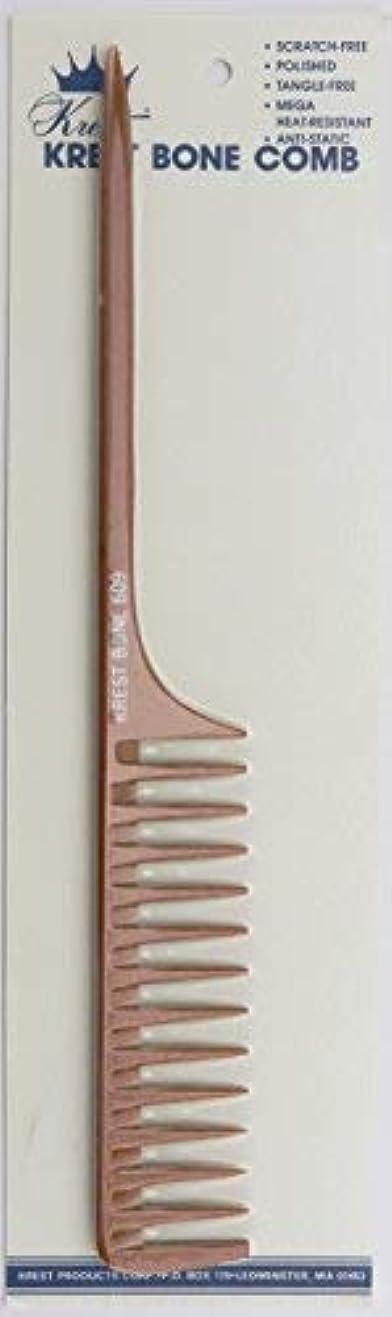 協力する麦芽致命的なKrest Bone 10 Inch Space Teeth Rattail Comb. Professional comb. Heat Resistant Comb. Styling Combs. Detangle,...