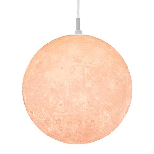 匠の誠品 ペンダントライト シーリングライト インテリア月ライト ムーンライト 月のランプ 間接照明 天井照明 LED 吊り下げ 3色切り替え対応 電球色 昼白色 昼光色 4.5畳 6畳 25CM