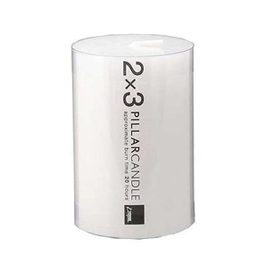 カメヤマキャンドル 2×3 ピラーキャンドル ホワイト